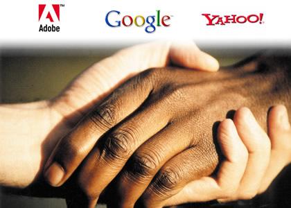 Adobe - Google - Yahoo - Zusammenarbeit