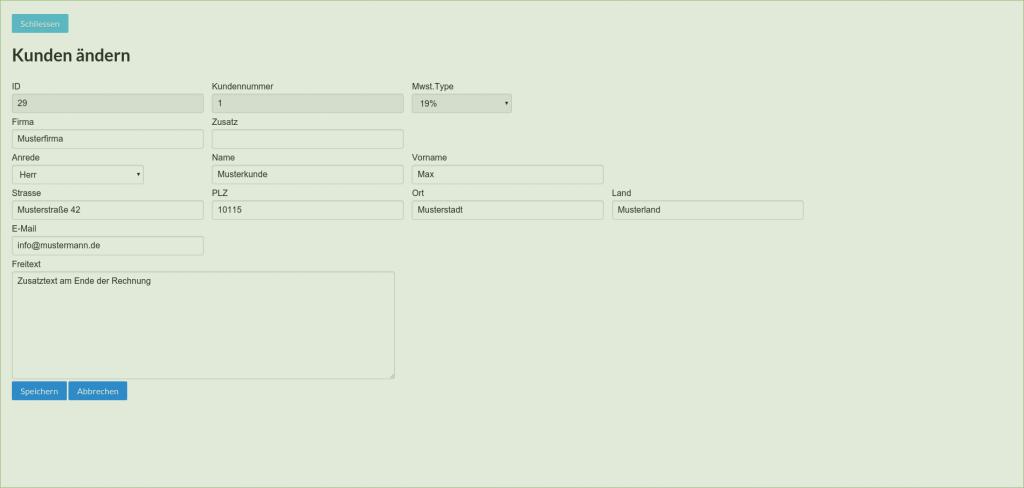 Frontend: Einfache Kundenverwaltung